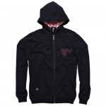 Ion Hooded Zip Sweter Fierce Black