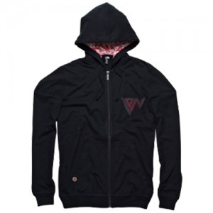 Ion Hooded Zip Sweter Fierce Black