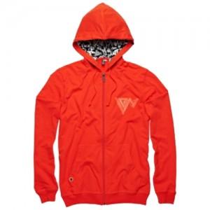 Ion Hooded Zip Sweter Fierce Vibrant Orange