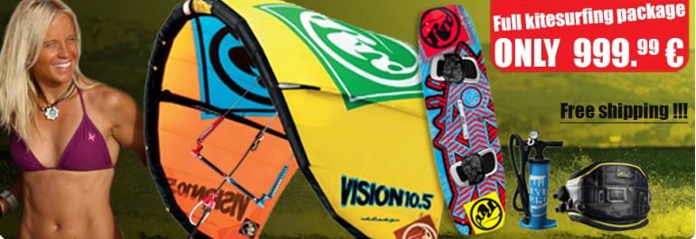 Kitesurfing package - Vision 2014