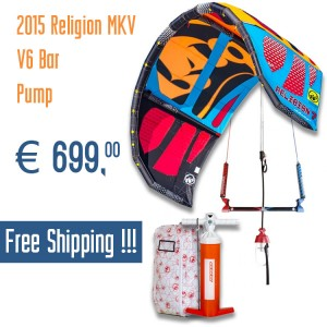 Religion MK5 2015 RRD Kite + V6 Bar + Pump + FREE SHIPPING