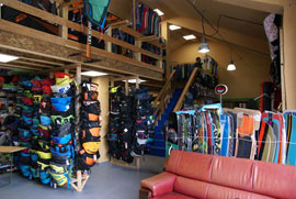 harnesses and kiteboards